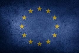 Description : Drapeau, Union Européenne, Brexit, Europe, Grunge